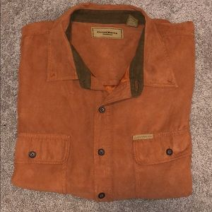 Clearwater Outfitters Suede Button Down Size XXL